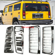 2003-2009 For HUMMER H2 Rear Tail light vent cover+Rear headlight Cover Trim 4pc