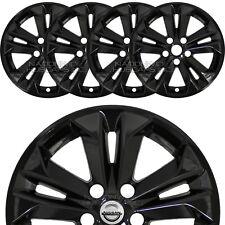 "fits 2014-17 Nissan Rogue SV 17"" Black Wheel Skins Hubcaps Full Alloy Rim Covers"