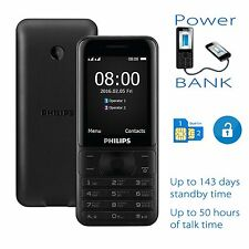 Philips Xenium E181 Dual Sim Unlocked - Can use as Power Bank - Up to 143 days