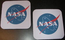 """*New Set of 2 NASA SPACE CENTER Drink Coasters   """"FREE SHIPPING"""""""