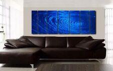 Blue Contemporary Metal Wall Art Sculpture - Abstract Home Decor by Jon Allen