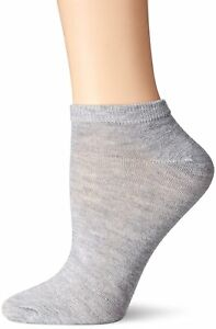 6 Pairs Nine West Women's Lowcuts Low Cut Socks, Heather Grey, Size Medium 9-11