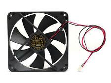 1pc DC Fan D12SH-12 12x12x2.5cm 12V 0.30A 2-wires UL TUV CE 2200rpm 88cfm 40dBA