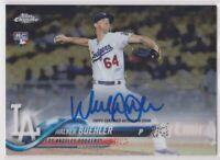 2018 Topps Chrome Baseball Walker Buehler Auto Rookie Card - LOS ANGELES DODGERS