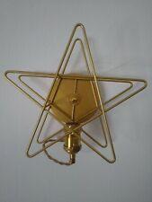Gold Star Wall Light Metal 26cm x 26cm