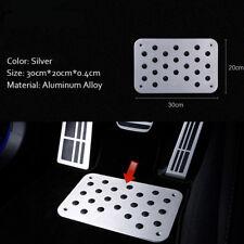 300mm x 200mm Truck Car Floor Mat Carpet Pedal Alloy Heel Plate Pedal - Silver