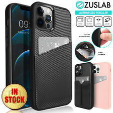 For iPhone 12 Pro Max mini Case ZUSLAB Card Slot Holder Leather Wallet Cover