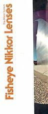 1970s NIKKOR FISHEYE LENSES BROCHURE -NIKKOR FISH EYE LENS for NIKON 35mm  SLR
