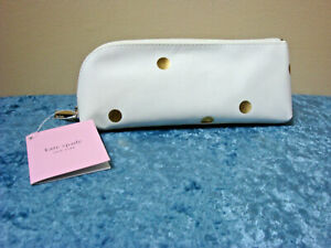 Kate Spade New York Gold Dot Pencil Case~White & Gold~NEW!!! FREE SHIPPING