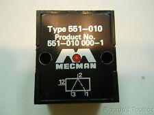 New Mecman Type 551-010 Pneumatic Valve, # 551-010 000-1