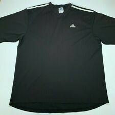 Vintage Adidas Three Stripes Soccer Jersey Warm up Shirt size 2Xl Xxl Black