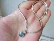 schöne ,alte Kette , Collier  ,  835 Silber , mit schönem Stein : Opal