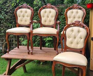 4 Vintage Louis Italian/French Style Chairs.1 Carver Chair & 3 Dining Chairs.
