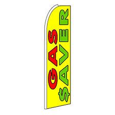 Gas Saver Advertising Flutter Feather Sign Swooper Banner Flag Only