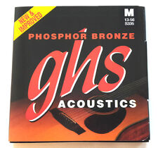 GHS s335 fósforo bronce guitarras cuerdas Western la guitarra acústica acero cuerdas 13