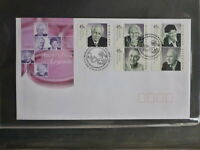 2002 AUSTRALIA AUSTRALIAN LEGENDS SET 5 STAMPS FDC FIRST DAY COVER