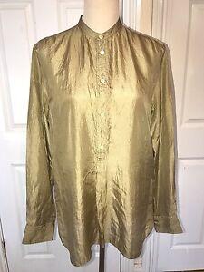 BNWT Ralph Lauren Long Sleeve AVA Shirt. 100% Silk. Various colours & Sizes