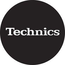 DMC Technics Classic Slipmats (black with white logo, pair)