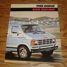 Original 1988 Dodge Ram Wagon Deluxe Sales Brochure 88