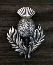 Made in Usa Pewter Scottish Thistle Brooch