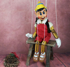 Vintage Wooden Large Hand Crafted & Painted Pinnochio Puppet Marionette
