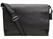 New Authentic Coach Charles Messenger Black Leather Shoulder Bag F54792