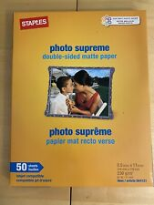 Staples - Photo Supreme Double-Sided Matte Paper - 50 Sheets - 8.5 x 11 - 230g