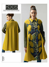 OOP VOGUE 1331 KOOS VAN DEN AKKER COUTURE WEARABLE ART TRAPEZE COAT PATTERN 6-14