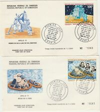 Cameroun  space 200+500f Neil Amstrong 1969  fdc