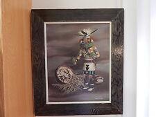 Vintage Boyd Steiner Native American Kachina Painting on Canvas 1976