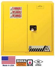 New listing Cabinet Hazardous Materials / Flammable Liquids - 30 Gallon - 35H x 36W x 24D Y