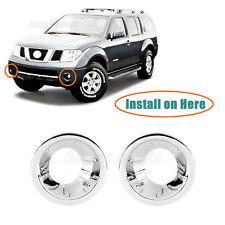 Chrome Front Fog Light Lamp Molding Covers Trims For 2005-2012 Nissan Pathfinder