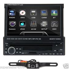 """7"""" In Dash 1Din Car CD DVD Player Touch Stereo FM Radio Detachable Audio+CAM USA"""