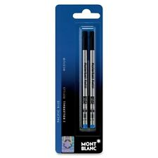 2 per Pack, Mont blanc 15159 Medium Point Rollerball Refill,Blue Ink Montblanc