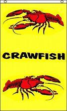 Crawfish Vertical Flag 3x5 ft Crawdads Crayfish Restaurant Banner Sign Cajun New