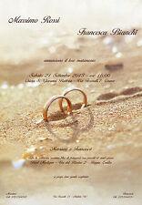 PARTECIPAZIONI NOZZE matrimonio,  Partecipazione Fedi Sabbia