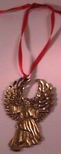 3 THREE Gold metal Angel southwest ornament with ribbon by Beverly Heitz