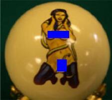 Pool/Billiards Snake Boot Girl Custom Cue Ball