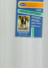 Scholl new sheer softgrip class II thigh lenght sand size large new boxed