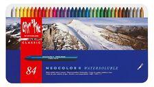 Caran d'ache neocolor ii boîte de 84 soluble dans l'eau cire pastels