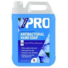 5 Ltr Antibacterial Soap Liquid Hand Wash for Dispensers Professional Sanitising