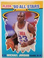Rare: 1990-91 Fleer 90 All-Stars Michael Jordan #5, Chicago Bulls, HOF
