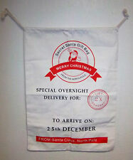 Secret Santa christmas Gift Bag from North Pole Canvas bag 27x19 I will add name