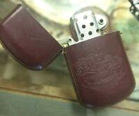 Vintage WINSTON Select Trading Burgundy LEATHER Promo Lighter 1990 Reynolds