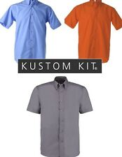New Mens Kustom Kit Short Sleeve Workforce Shirt KK100 RRP £12.95