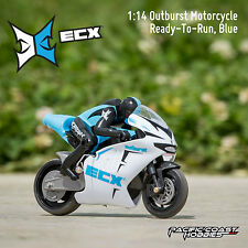 ECX 1:14 Outburst Electric RC Motorcycle RTR Blue ECX01004T1