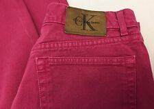 Vintage Calvin Klein Pink Mom Jeans Size 13 Made in USA Stonewash Womens Juniors
