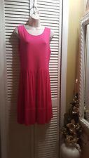 Carole Little Raspberry Pink Summer Dress Sleeveless  Back Zipper Size L