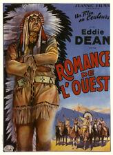 WESTERN 1946 ROMANCE DE L'OUEST EDDIE DEAN COW BOY CHANTANT  AFFICHE ENTOILEE