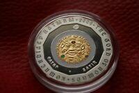 Kazakhstan 500 tenge SATIR 2009 Proof silver 1oz gold of nomads gilded RARE